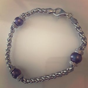 Jewelry - Silver and pearl bracelet